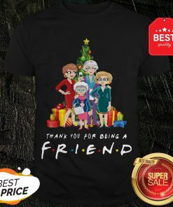Christmas Tree Golden Girl Thank You For Being A Friends TV Show Shirt