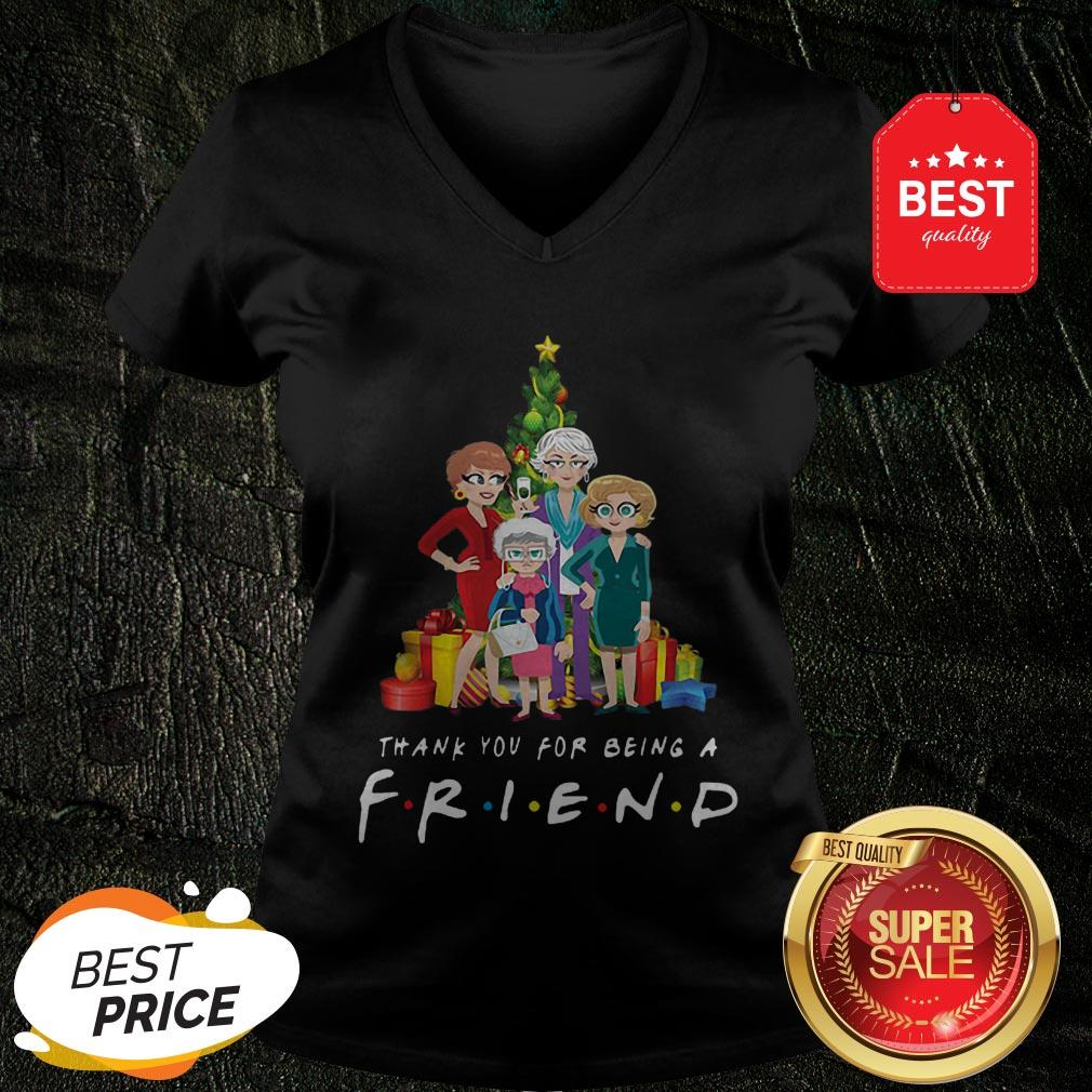 Christmas Tree Golden Girl Thank You For Being A Friends TV Show V-neck
