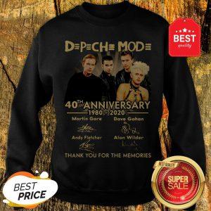Depeche Mode 40th Anniversary 1980 2020 Signature Thank Memories Sweatshirt