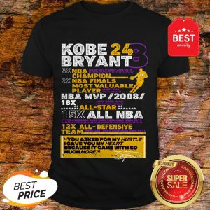 Kobe Bryant 24 8 5X NBA Champion 2X NBA Finals Most Valuable Shirt