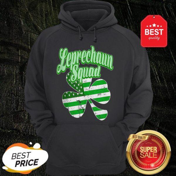 Leprechaun Squad St. Patrick's Day American Flag Irish Clover Hoodie