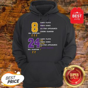 NBA Champion 8 24 Game Played Points Scored All-Star Appearances Hoodie