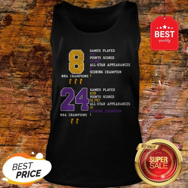 NBA Champion 8 24 Game Played Points Scored All-Star Appearances Tank Top