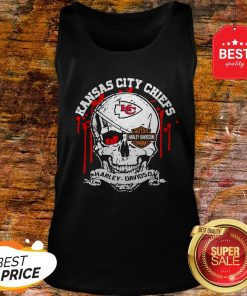 Nice Kansas City Chiefs Motor Harley Davidson Cycles Skull Tank Top