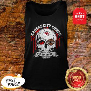 Nice Kansas City Chiefs Motor Harley Davidson Cycles Skull Tank Top