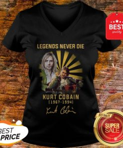 Nice Kurt Cobain 1967 1994 Legends Never Die Signature V-neck