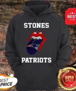 Nice Rolling Stones Logo New England Patriots Hoodie