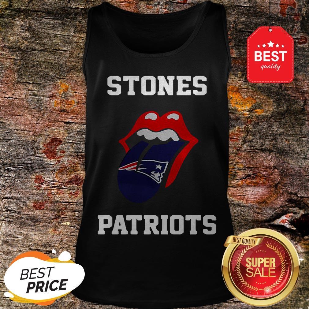 Nice Rolling Stones Logo New England Patriots Tank Top