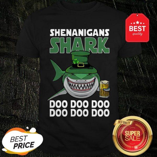 Nice Shenanigans Shark Doo Doo Doo St Patrick's Day Shirt