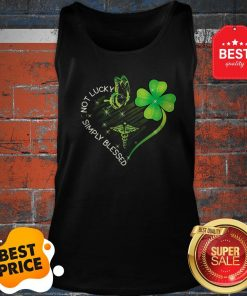 Not Lucky Simply Blessed Nurse Heart Shamrock St. Patrick's Day Tank Top