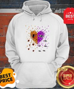 Official Baltimore Orioles And Baltimore Ravens Heart Hoodie
