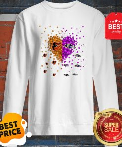 Official Baltimore Orioles And Baltimore Ravens Heart Sweatshirt