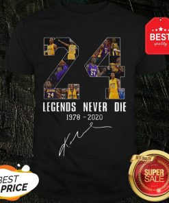 Official Legends Never Die Kobe Bryant 24 Signature Shirt