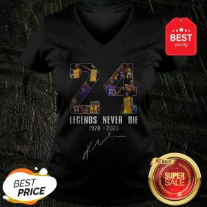 Official Legends Never Die Kobe Bryant 24 Signature V-neck