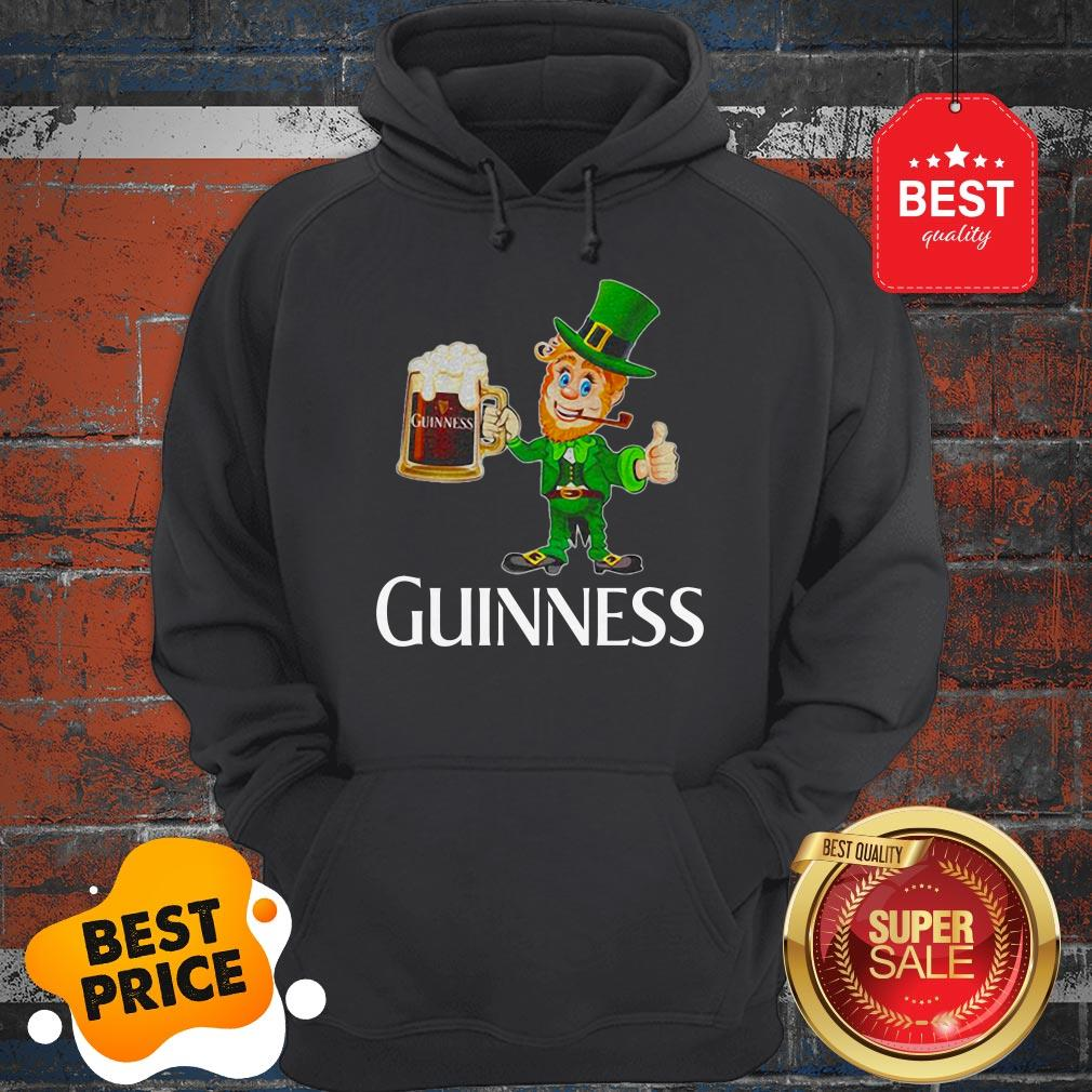 Official Leprechaun Drink Guinness Beer Hoodie