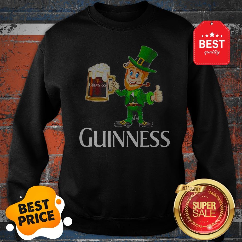 Official Leprechaun Drink Guinness Beer Sweatshirt