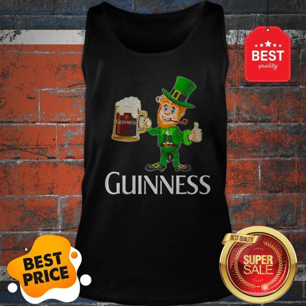 Official Leprechaun Drink Guinness Beer Tank Top