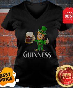 Official Leprechaun Drink Guinness Beer V-neck