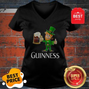 Official Leprechaun Drink Guinness Beer V-neck