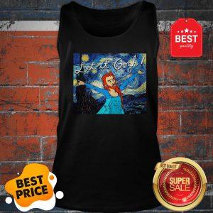 Official Let It Gogh Elsa Mashup Van Gogh Starry Night Tank Top