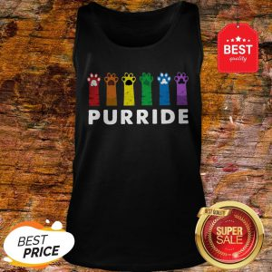 Official LGBT Cat Paws Purride Tank Top