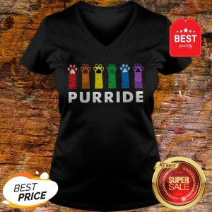Official LGBT Cat Paws Purride V-neck