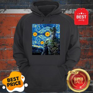 Official Marvel Groot Mashup Van Gogh Starry Night Hoodie
