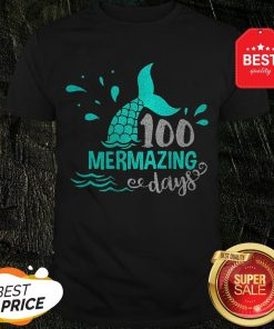 Official Mermaid 100 Mermazing Days Shirt