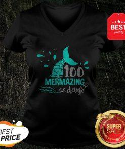 Official Mermaid 100 Mermazing Days V-neck