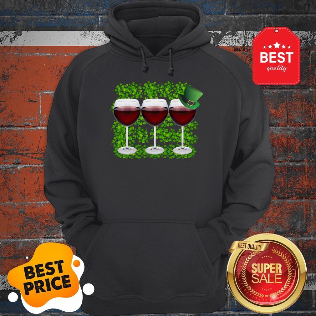 Official Wine Glass Irish Happy St. Patrick's Day Hoodie