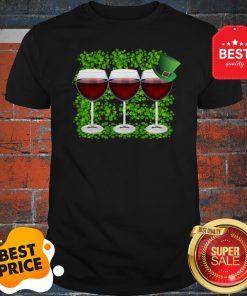 Official Wine Glass Irish Happy St. Patrick's Day Shirt