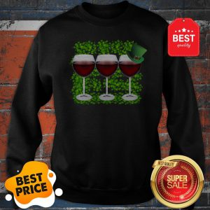 Official Wine Glass Irish Happy St. Patrick's Day Sweatshirt