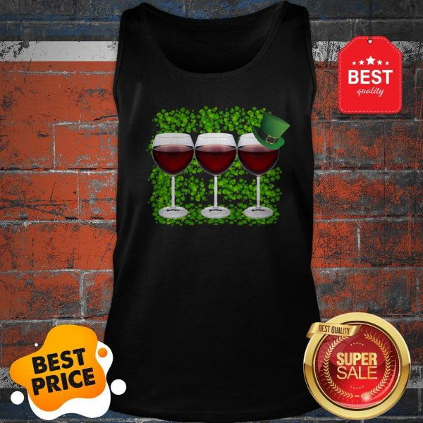 Official Wine Glass Irish Happy St. Patrick's Day Tank Top