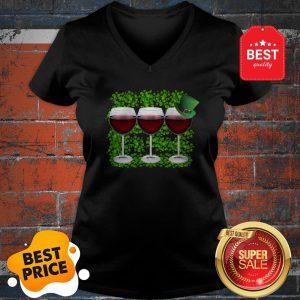 Official Wine Glass Irish Happy St. Patrick's Day V-neck