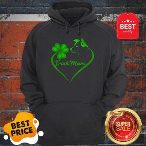 Premium Irish Mam Shamrock St Patrick Day Border Collie Dog Lover Hoodie