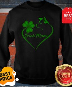 Premium Irish Mam Shamrock St Patrick Day Border Collie Dog Lover Sweatshirt