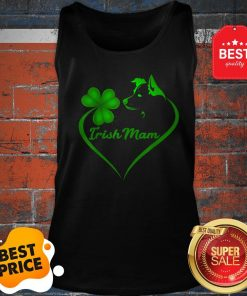 Premium Irish Mam Shamrock St Patrick Day Border Collie Dog Lover Tank Top