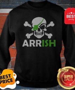 Pretty Irish Pirate Skull And Cross Bones St Patricks Day Sweatshirt