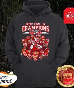 Super Bowl LIV Champions 2020 Kansas City Chiefs Signatures Hoodie