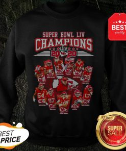 Super Bowl LIV Champions 2020 Kansas City Chiefs Signatures Sweatshirt