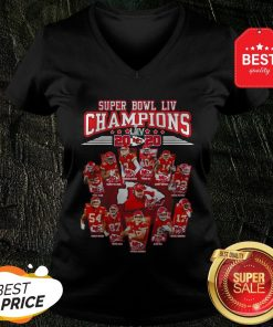Super Bowl LIV Champions 2020 Kansas City Chiefs Signatures V-neck