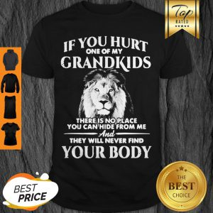 Lion If You Hurt One Of My Grandkids There Is No Place You Can Hide From Me Shirt