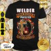Welder Born Raised And Protected By God Guts & Glory Shirt