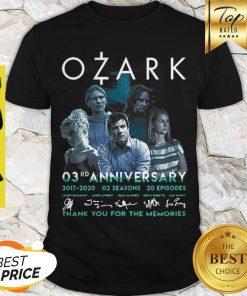 Ozark 03rd Anniversary 2017 2020 02 Seasons 20 ep Signatures Shirt