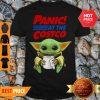 Baby Yoda Hug Paper Toilet Panic At The Costco Coronavirus Shirt