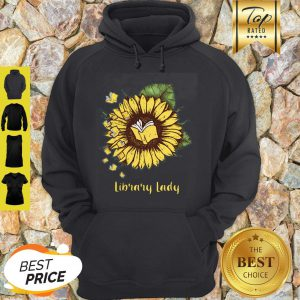 Official Sunflower Book Library Lady Hoodie