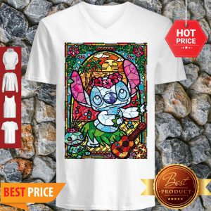 Stained Glass Style Dancing Stitch V-neck
