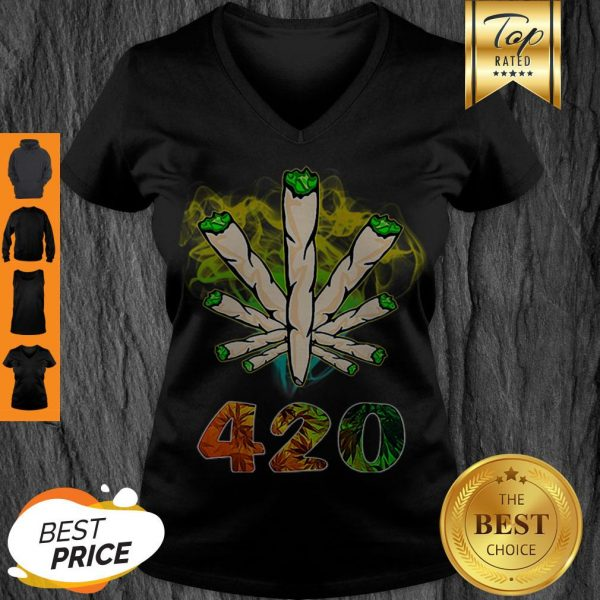 Official Weed Cannabis 420 Weed Day V-neck