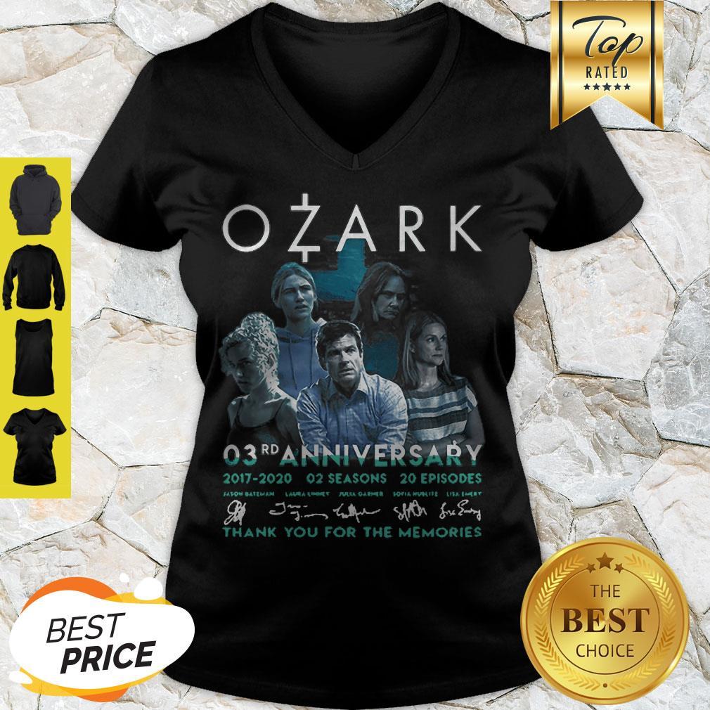 Ozark 03rd Anniversary 2017 2020 02 Seasons 20 ep Signatures V-neck