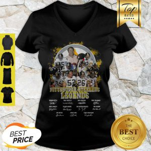 Pittsburgh Steelers Legends All Team Player Signatures V-neck